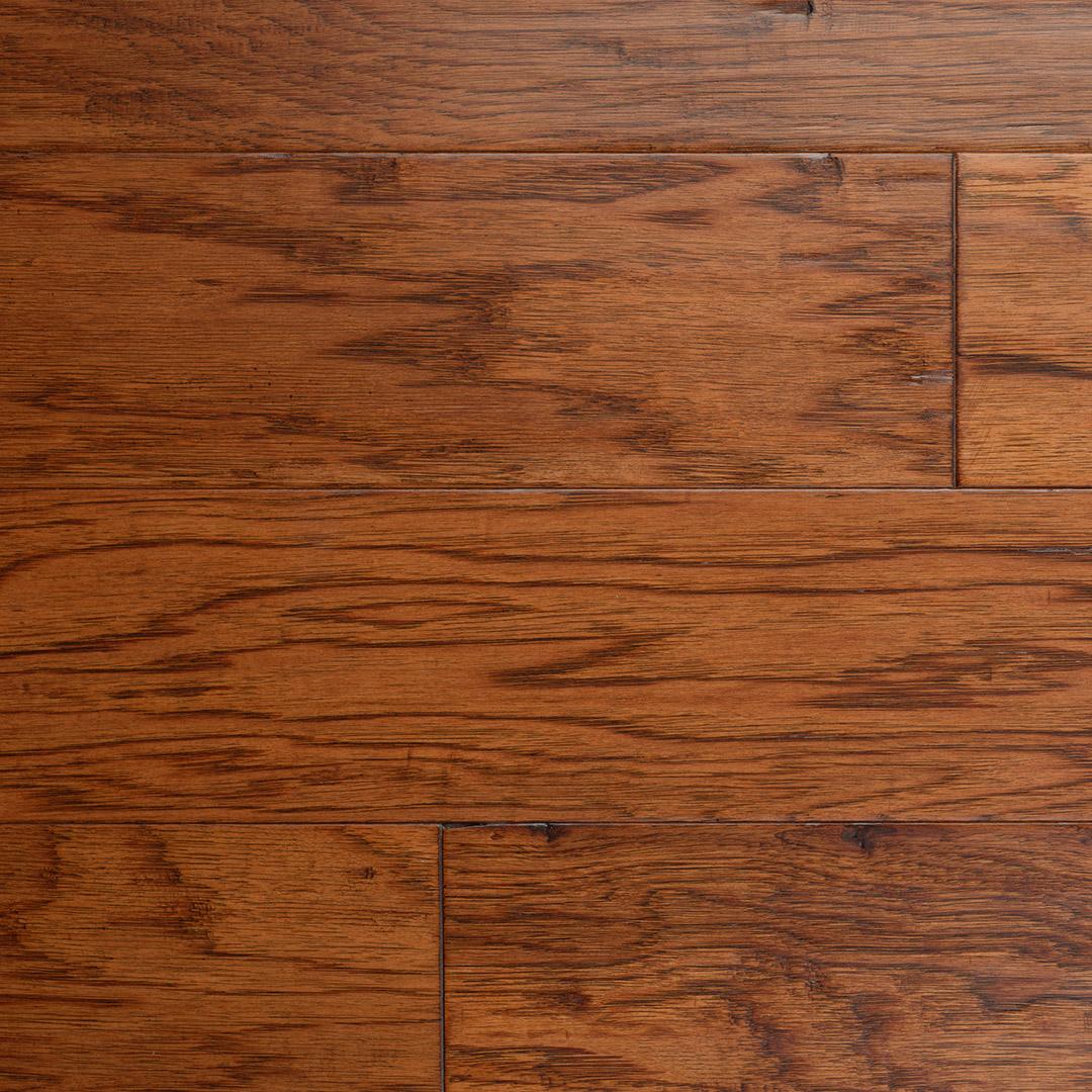 """The Ultimate Guide To Understanding Engineered Wood Floors: Hickory Sorghum 5"""" Engineered Hardwood Flooring"""