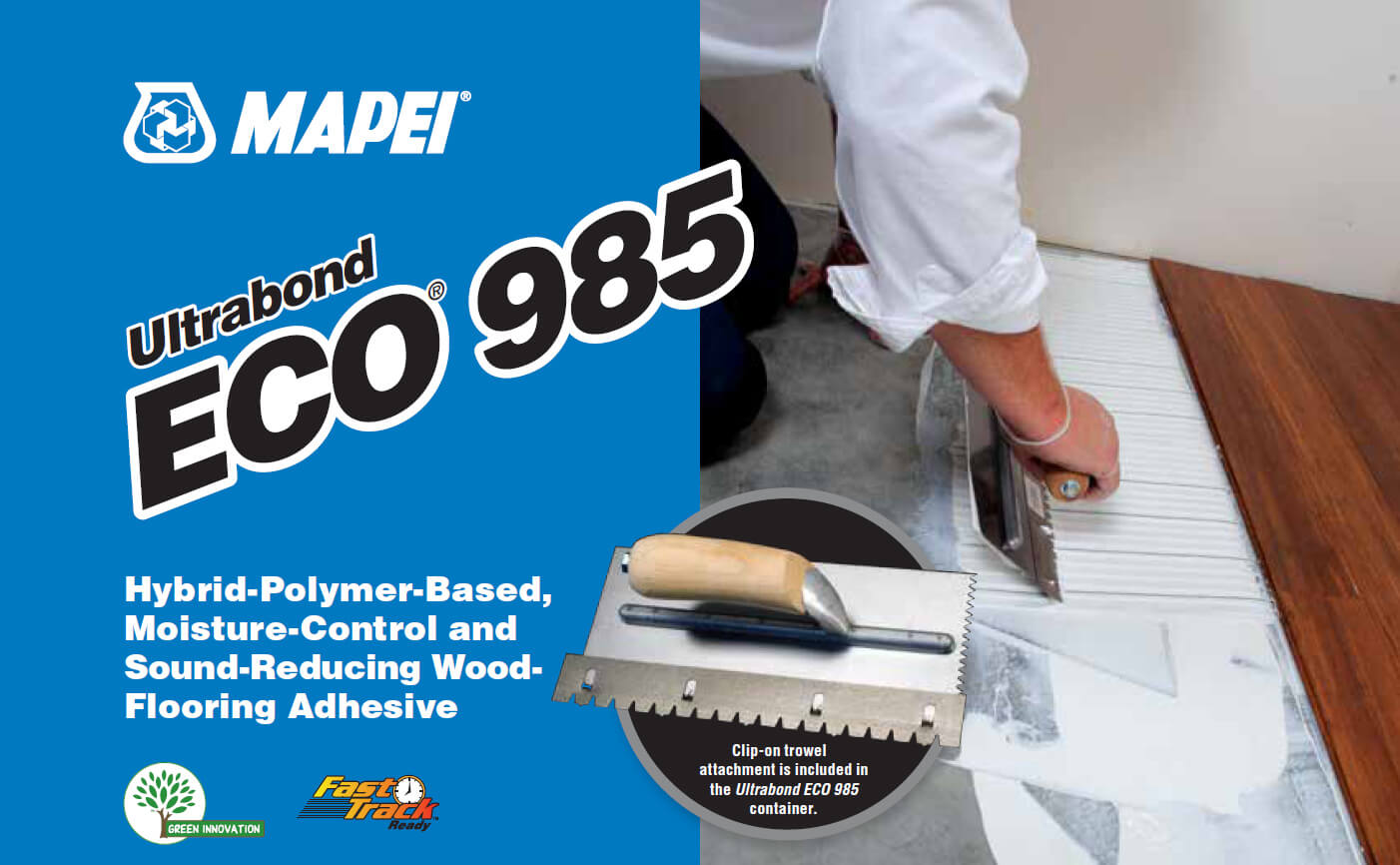 Mapei Ultrabond ECO® 985 Hybrid-Polymer-Based, Moisture Control, and